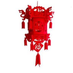 Diy Nonwovens Material Chinese New Year Lantern Flocking Chinese New Year Decorations Chinese Knot Palace Lantern