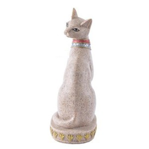 Sandstone Ancient Egyptian Mau God Cat Statue Hand Carved