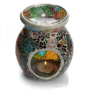 Mosaic Colorful Aroma Oil Burner Lamp