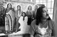 Leonard Peltier in art room at Leavenworth. 6/92 ©Jeffry Scott