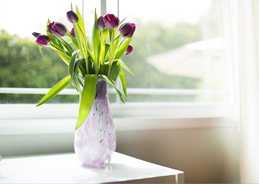 Purple Flower Vase