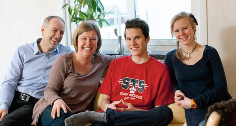acomodação estudantil em Dublin casa de família Host family