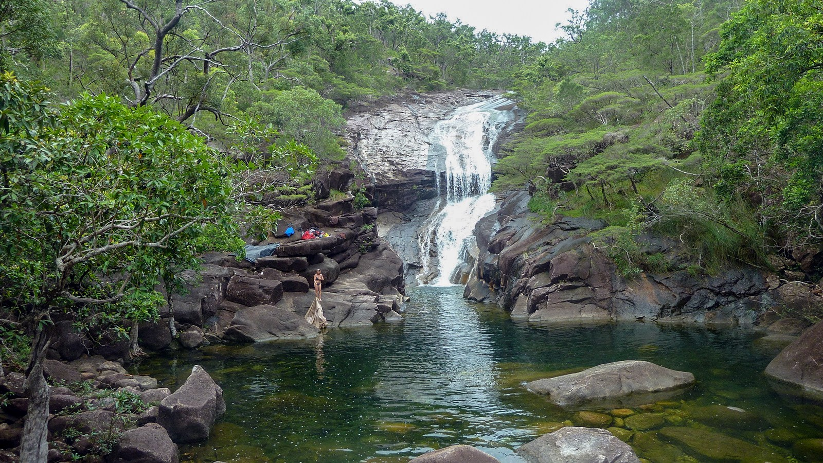 a photo of Mulligan Falls on hinchinbrook island.