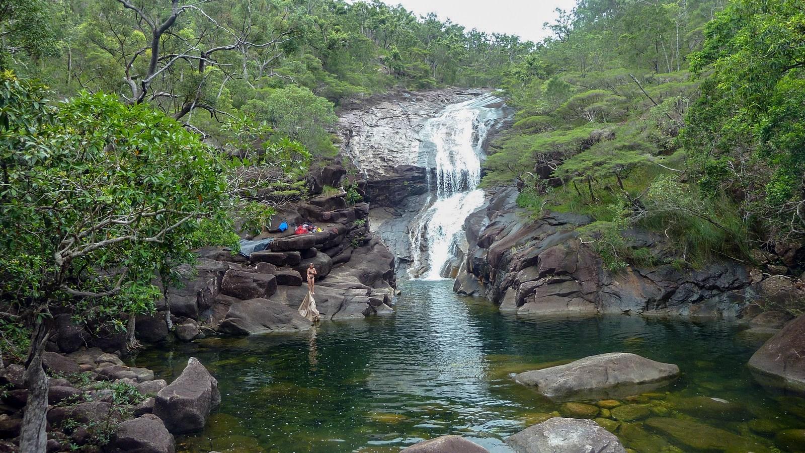 a photo of Mulligan Falls on hinchinbrook island.