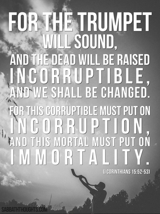1 Corinthians 15:52-53