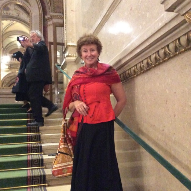 Laura at intermision of the Marriage of Figaro at the Vienna Staatsoper