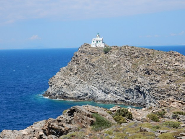 Lighthouse at northwest tip of Paros Island
