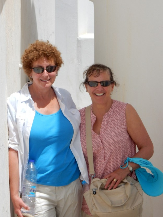 Cathy and Laura on Paros Island
