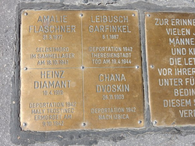 Memorial to the Jewish victims of the Holocaust who lived in this Vienna apartment building