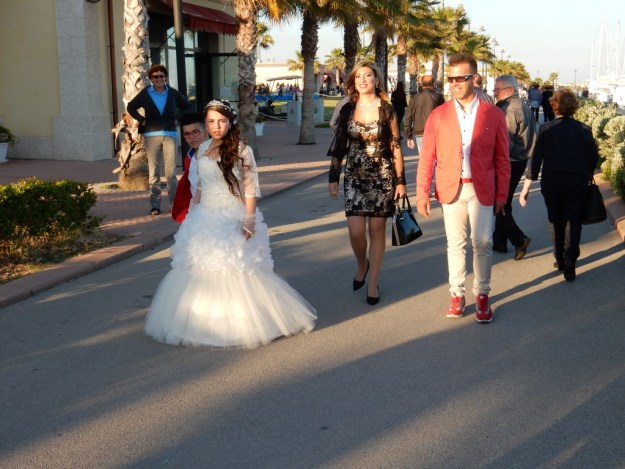Local people strolled along the quay of the marina in Licata every evening and all day on Sunday