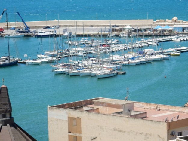 The Lega Navale dock in Sciacca. Sabbatical III is closest boat.