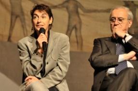 Torino 20/04/12 Luigi Ciotti e il sen. De Sena presentano sabbiarossa