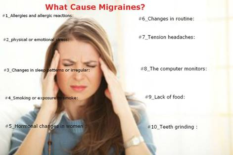 What are causes of Migraine image