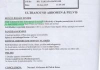 Medical Report Showing Liver Cancer Cured By Homeopathic Treatment