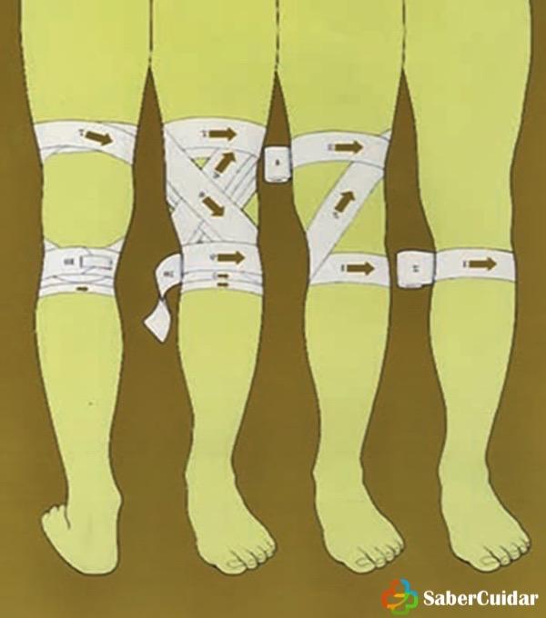 vendaje de rodilla-en-8