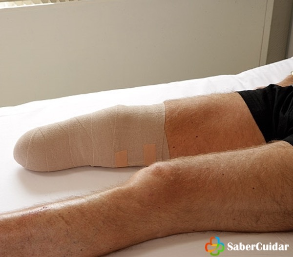 vendaje-muñon-pierna