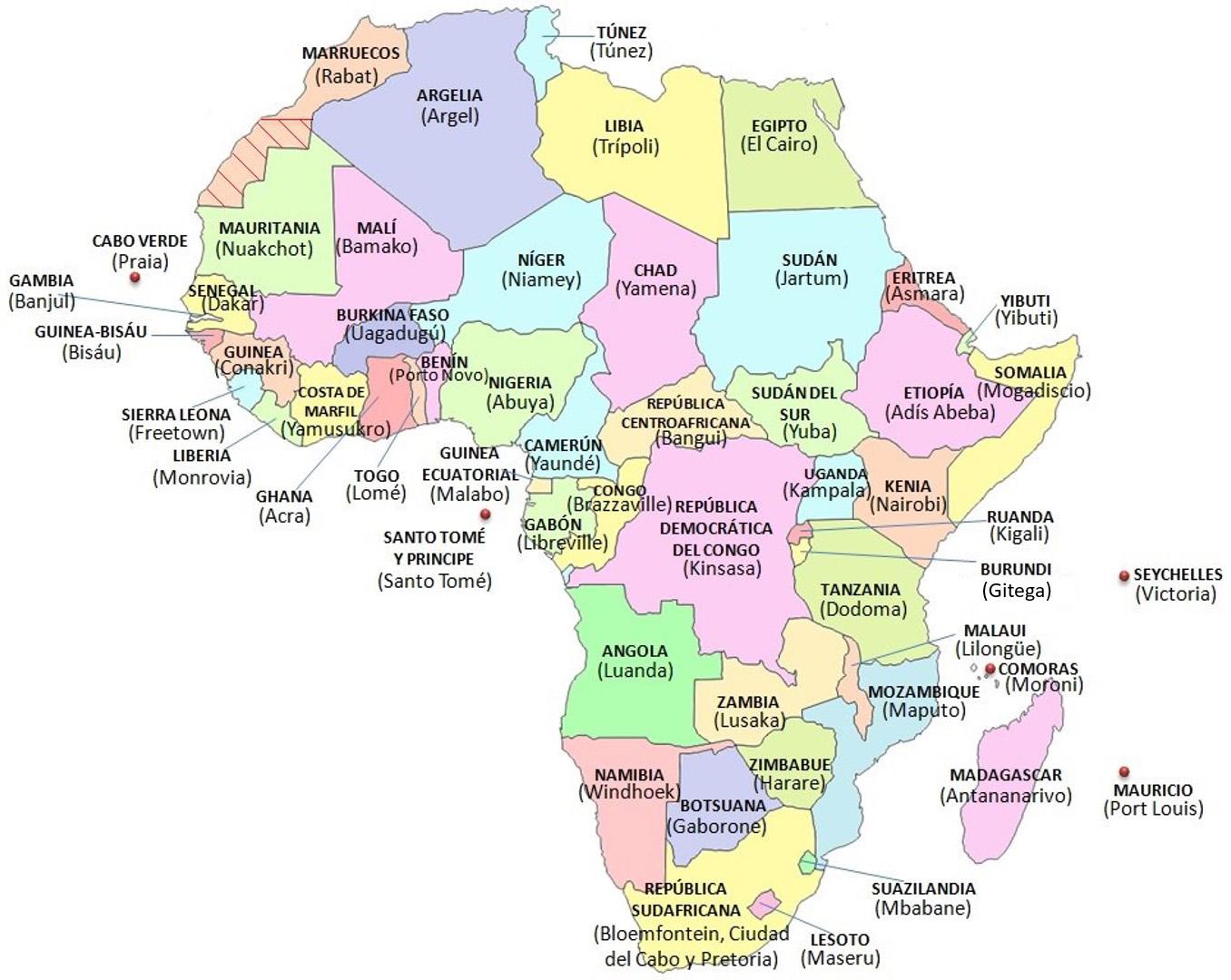mapa africa Mapa África Político mapa africa