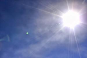 sol en el cielo
