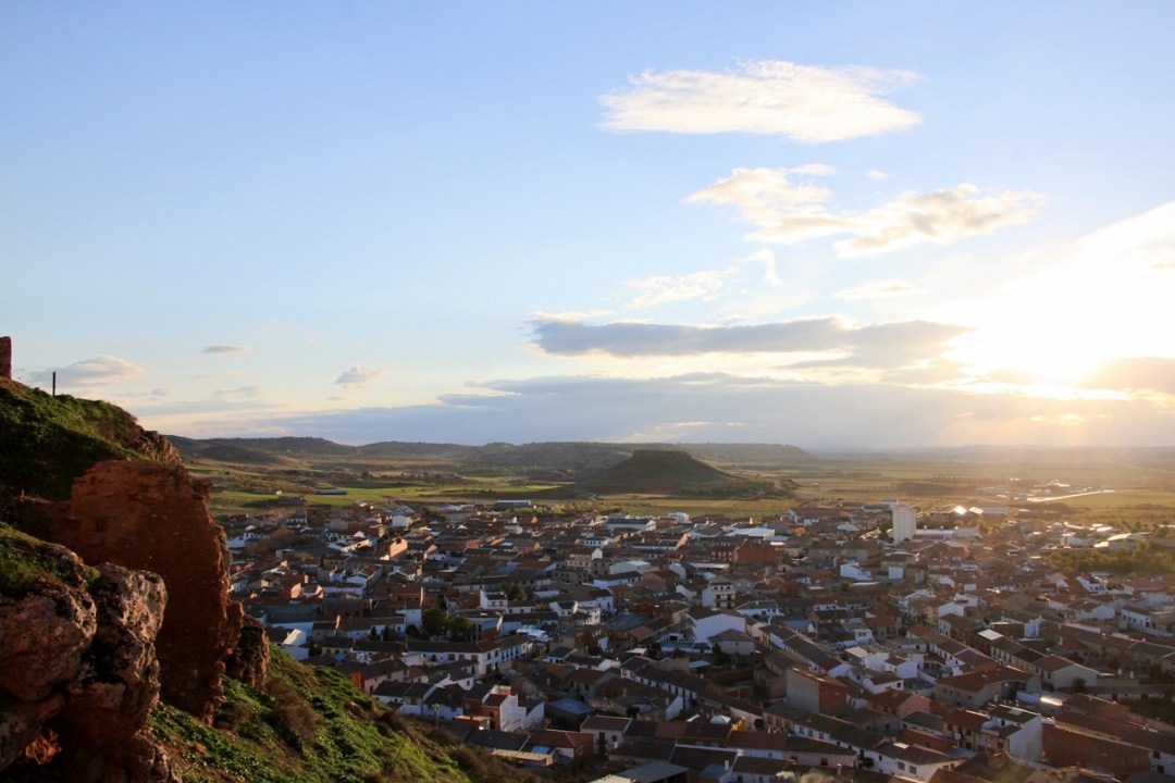 Vista de Montiel desde el Castillo de la Estrella