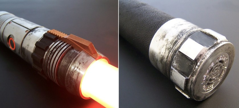 Vader's Vault Ember lightsaber emitter and pommel