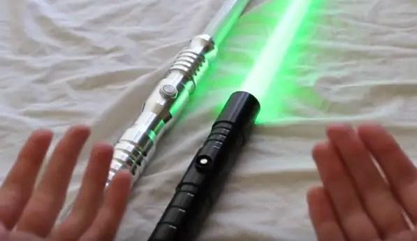 two Ultrasabers lightsaber
