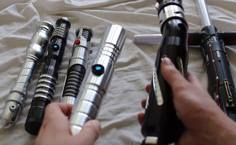 What's the average size of a lightsaber hilt? (i.e. length and diameter)