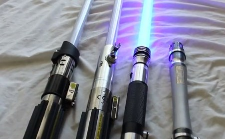 lightsabers from various companies