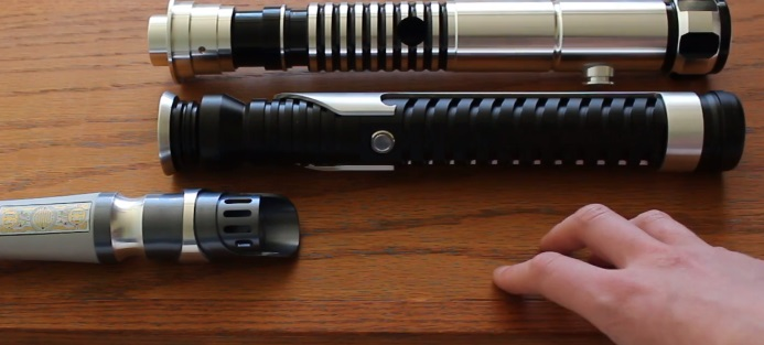 lightsaber hilt display without a stand