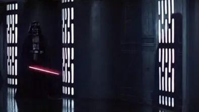 Darth Vader in the Death Star corridor