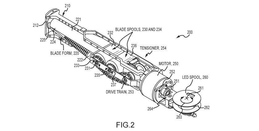 Disney retractable lightsaber patent