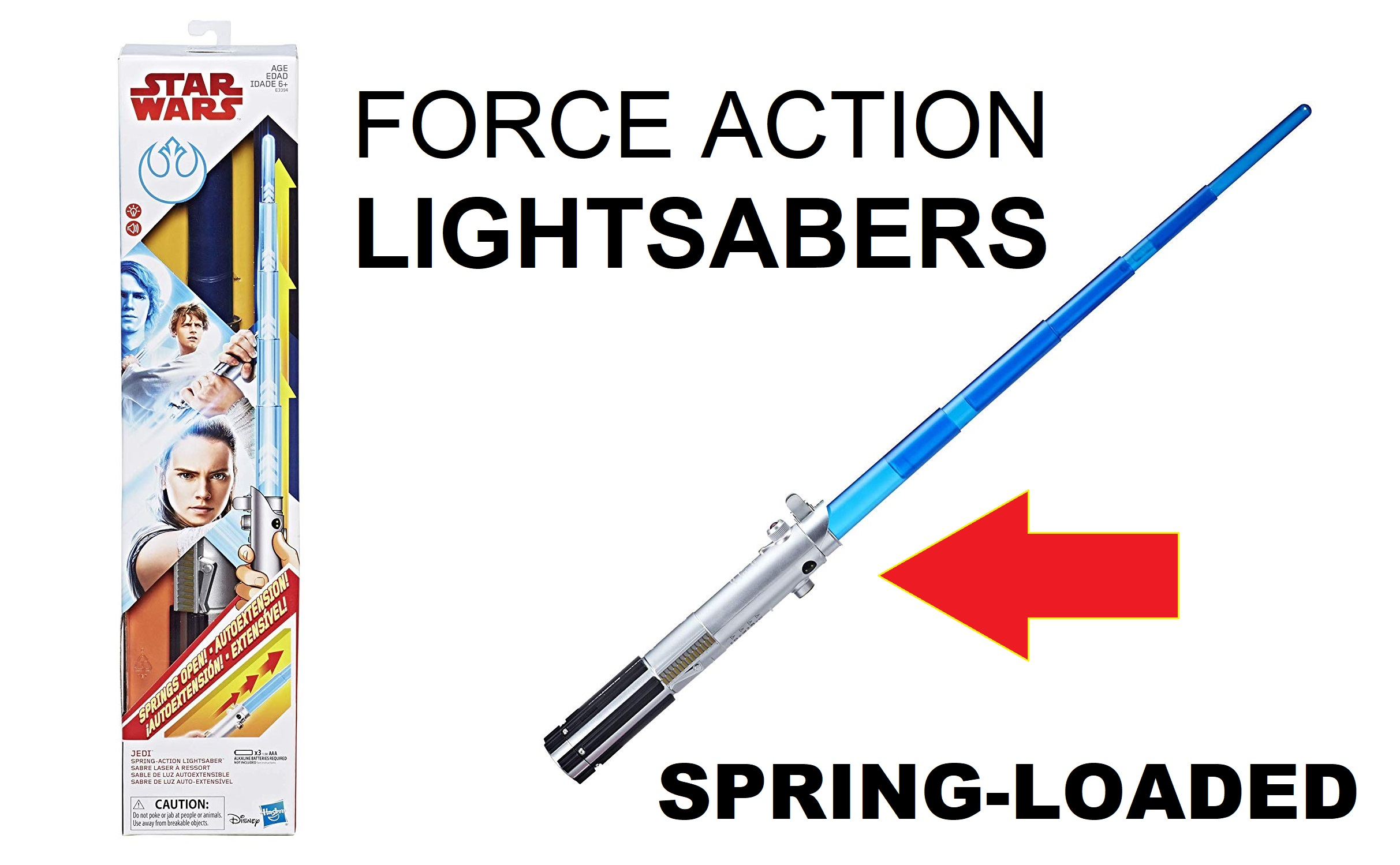 Spring-Action Star Wars Force Action Lightsabers Rey Electronic Lightsaber