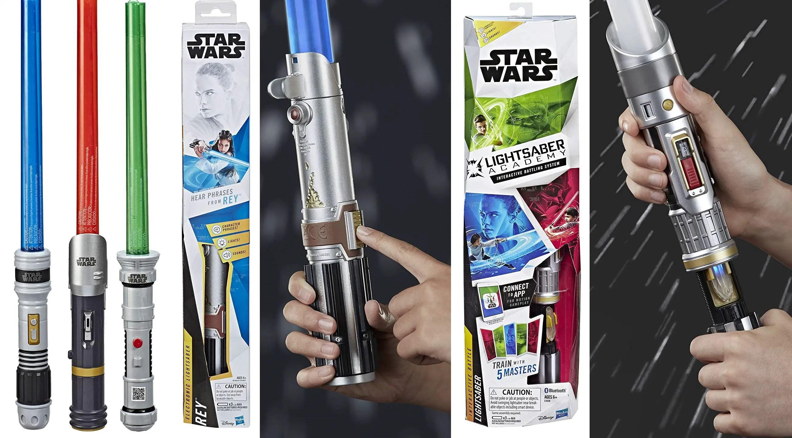 Disney Parks Star Wars Extendable Light Saber Jedi Training Academy Blue New