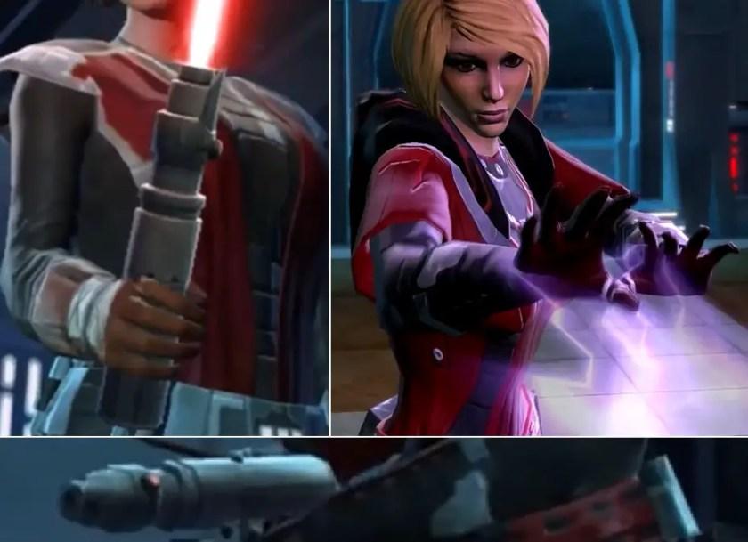 Darth Zash and the Darth Zash lightsaber in video game Star Wars: The Old Republic