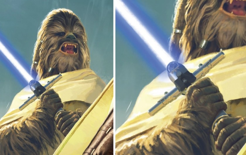 Gungi Jedi Death / Gungi's lightsaber was created during the clone wars by a wookiee youngling called gungi.