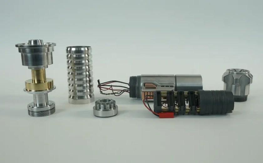 Saberkraft Big Boy lightsaber (disassembled)