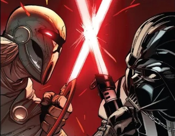Darth Momin duels Darth Vader