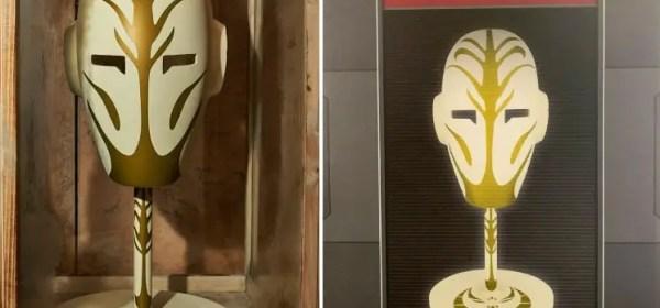 Jedi Temple Guard Mask from Star Wars Galaxy's Edge