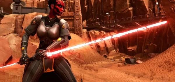 Darth Hedix lightsaber (unstable, double-bladed lightsaber)