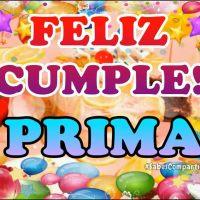 Video mensaje y Frases Feliz Cumpleaños PRIMA!