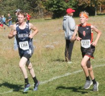 Sophomore Charlie Bestwick paces himseld during the 3A State race on Saturday, October 27, at Rim Rock.
