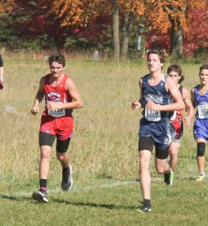 Junior Micah Romines paces himself during the 3A State Meet on Saturday, October 27, at Rim Rock.