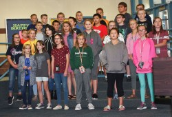 Members of the sixth grade vocal class perform for grandaprents during the sixth grade Grandparents Day on Tuesday, September 25.