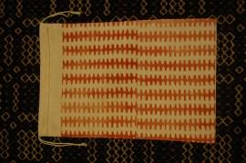 block printed bag-zig zag