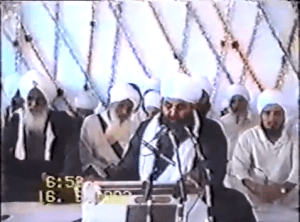 Chakari Wale Baba Ji (far left) with Sant Baba Mann Singh Ji at Pehowa Barsi 1993