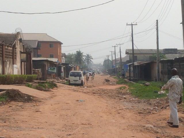 ENTRY ROAD OF IDOWU ANISERE STREET, IKOTUN.