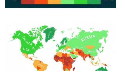 Países con más posibilidades de sobrevivir al cambio climático