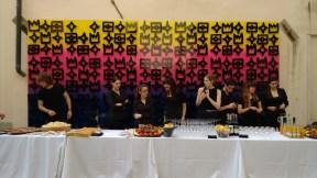 Regalia installation by Reko Rennie and press reception bar