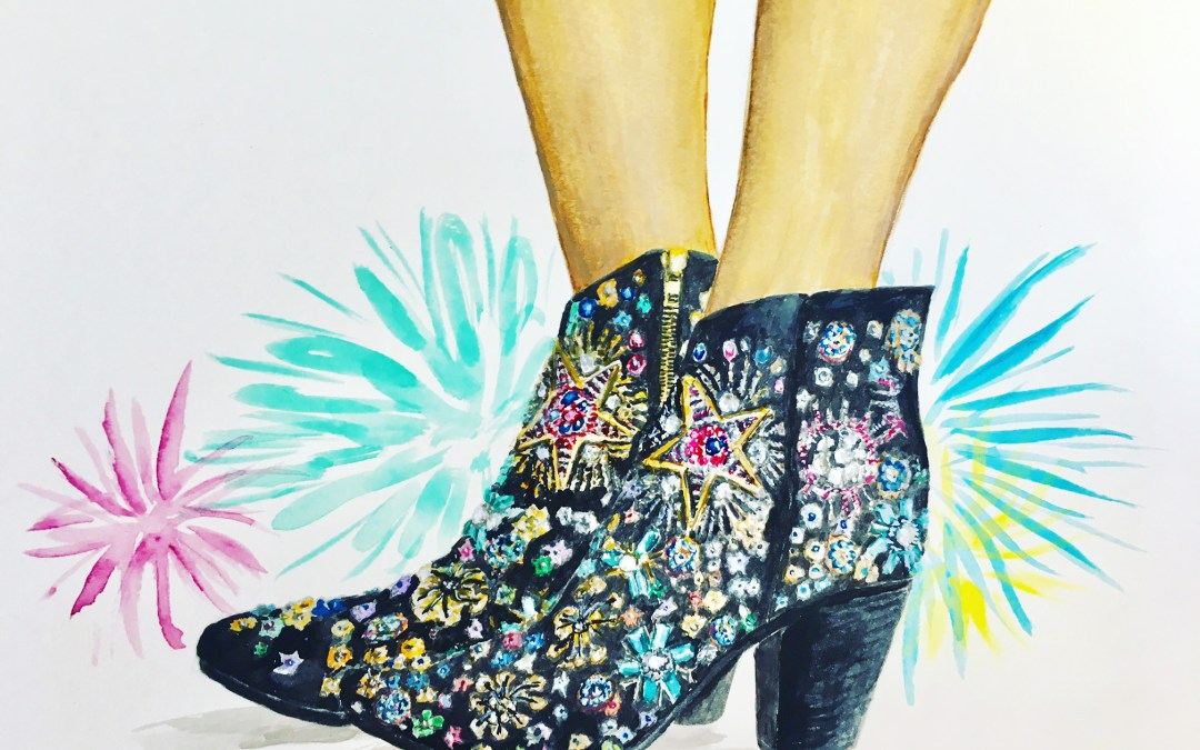 All Aglow: Free People Beaded Boots