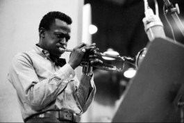 "In this publicity image released by Sony/Legacy Records, musician Miles Davis is shown during recording session in 1959 for ""Kind of Blue."" (AP Photo/Sony/Legacy, Don Hunstein)"