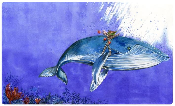 illustration jeunesse sur les oceans-poissons-mammifere marin-pollution des oceans-pollution des mers- écologie-
